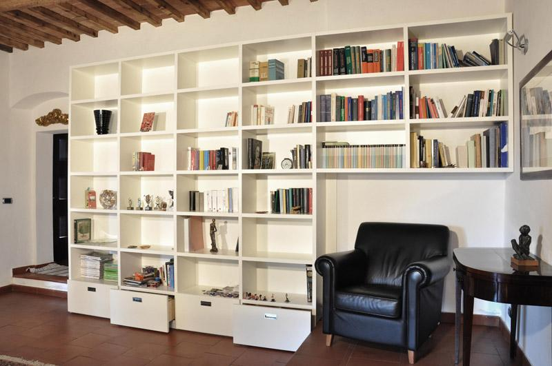 libreria in cartongesso per salotto dimarcolor