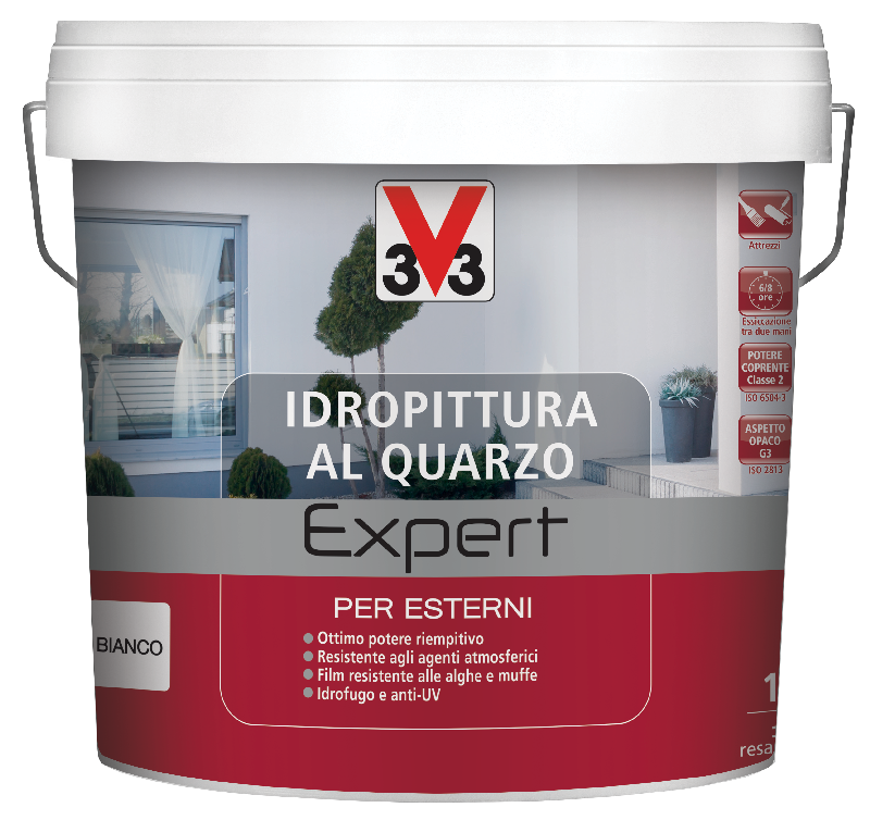 IDROPITTURA AL QUARZO EXPERT V33 PER ESTERNI BIANCO ...